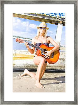 Sea Shore Serenade Framed Print
