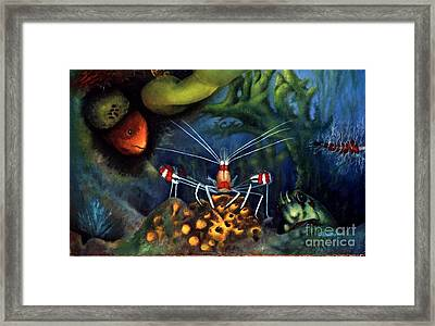 Sea Shrimp Framed Print