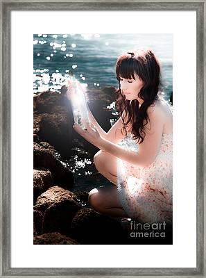 Sea Side Sos Framed Print by Jorgo Photography - Wall Art Gallery