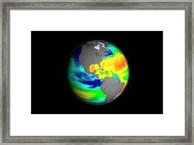Sea Surface Salinity Framed Print