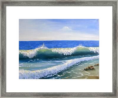 Sea Waves Framed Print by Tatyana Bondareva