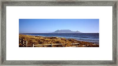 Sea With Table Mountain Framed Print by Panoramic Images
