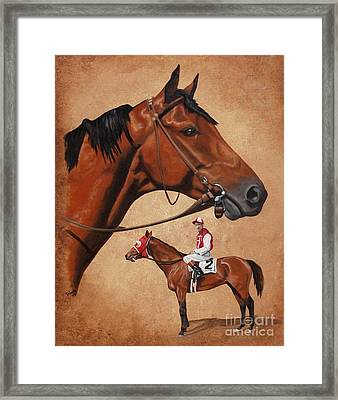 Seabiscuit Framed Print