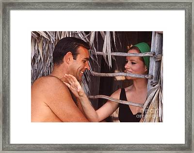 Sean Connery And Luciana Paluzzi Framed Print by The Harrington Collection