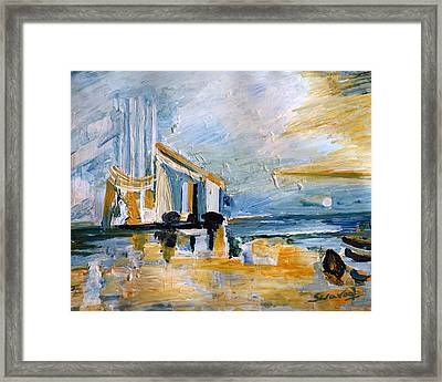 Seascape-1 Framed Print by Anand Swaroop Manchiraju