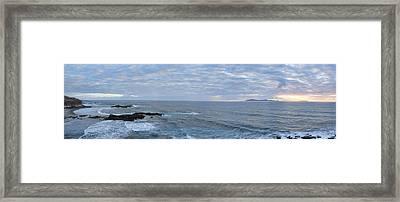 Seascape Framed Print by Hugh Smith