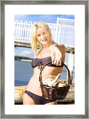 Seashell Offering Framed Print