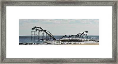 Seaside Heights Roller Coaster  - Paint Framed Print