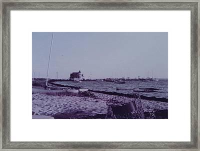 Seaside Park Nj Yacht Club Framed Print by Joann Renner