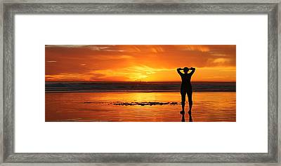 Framed Print featuring the photograph Seaside Reflections  by Chad and Christy Pooschke