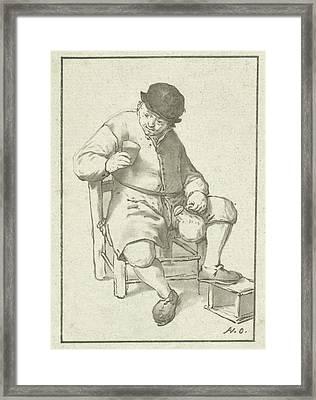 Seated Farmer With Pitcher, Cornelis Ploos Van Amstel Framed Print by Cornelis Ploos Van Amstel