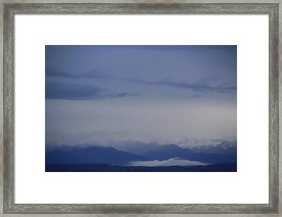 Seattle Blue Framed Print by A K Dayton