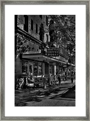 Seattle Coffee Works Framed Print