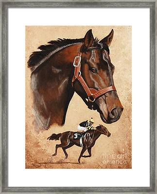 Seattle Slew Framed Print