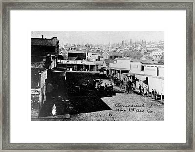 Framed Print featuring the photograph Seattle, Washington, 1880s by Granger