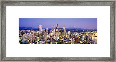 Seattle, Washington State, Usa Framed Print by Panoramic Images