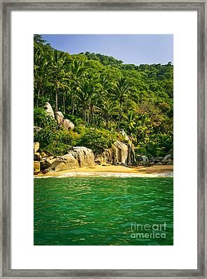 Secluded Beach  Framed Print by Elena Elisseeva