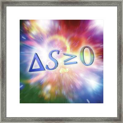 Second Law Of Thermodynamics Framed Print