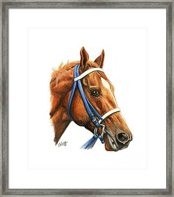 Secretariat With Racing Bridle Framed Print