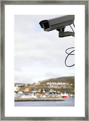Security Camera Framed Print