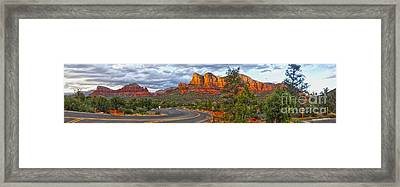 Sedona Arizona Panorama Framed Print by Gregory Dyer
