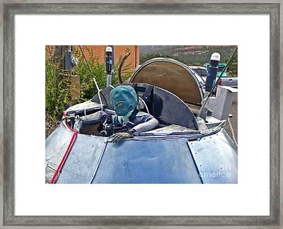 Sedona Arizona Ufo Landing Framed Print by Gregory Dyer