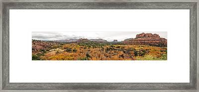 Sedona Panorama Framed Print