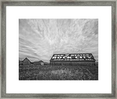 See Rock City - Farm In Tennessee Framed Print by Mountain Dreams