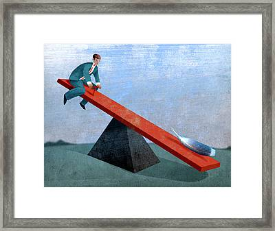 Seesaw Framed Print by Steve Dininno