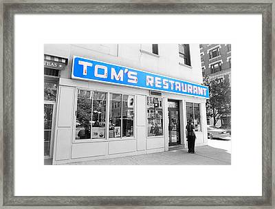 Seinfeld Diner Location Framed Print by Valentino Visentini