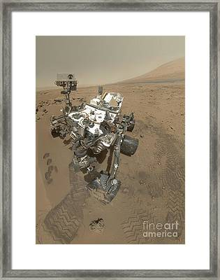 Self-portrait Of Curiosity Rover Framed Print by Stocktrek Images