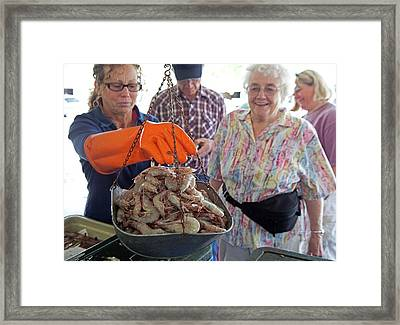 Selling Shrimp Framed Print by Jim West