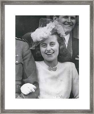 Senator Robert Kennedy's Sister Kathleen Framed Print by Retro Images Archive