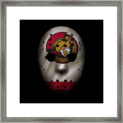 Senators Jersey Mask Framed Print