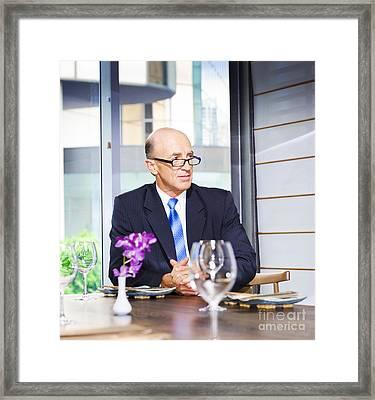 Senior Business Executive Attending Function Framed Print