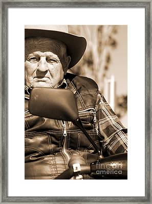 Senior Stare Framed Print by Jorgo Photography - Wall Art Gallery