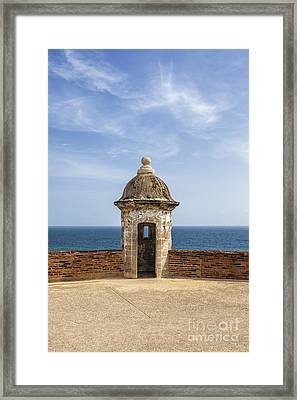 Framed Print featuring the photograph Sentry Box In Old San Juan Puerto Rico by Bryan Mullennix