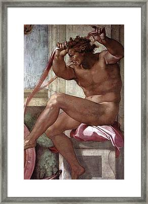 Separation Of Land From Sea - Ignudo Detail Framed Print