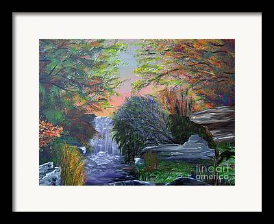 Southern Indiana Autumn Paintings Framed Prints