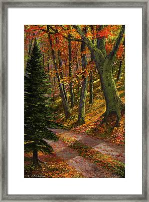 September Road Framed Print by Frank Wilson