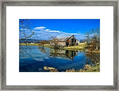 Sequatchie Valley Barn Framed Print by Paul Mashburn