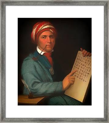 Sequoyah  Framed Print