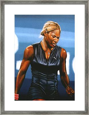 Serena Williams Framed Print by Paul Meijering