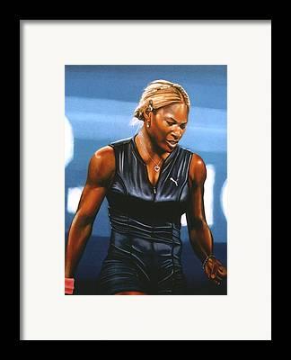 Serena Williams Framed Prints