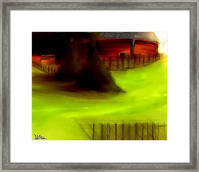 Serene New England Cabin In Summer  #1 Framed Print by Diane Strain