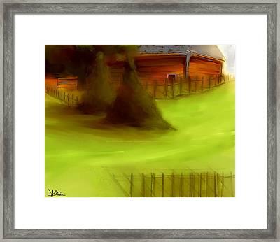 Serene New England Cabin In Summer  #2 Framed Print by Diane Strain