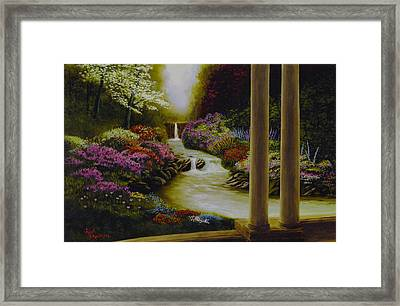 Framed Print featuring the painting Serenity by Rick Fitzsimons