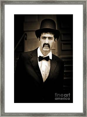 Serious Vintage Man Framed Print