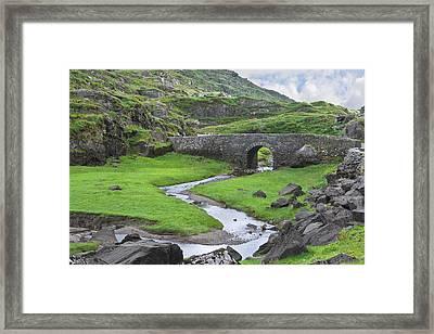 Serpent River Bridge Dunloe Framed Print