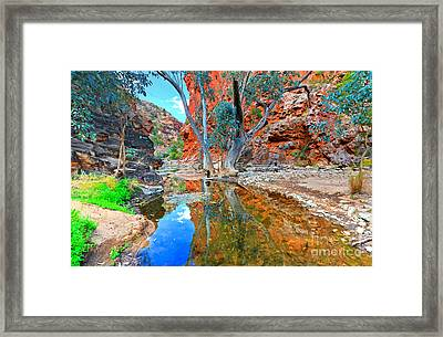 Serpentine Gorge Central Australia Framed Print by Bill  Robinson